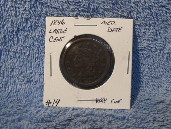 1846 LARGE CENT VF