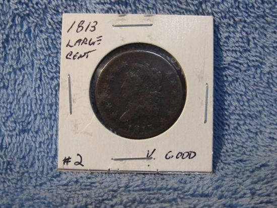 1813 LARGE CENT (CORRODED) F