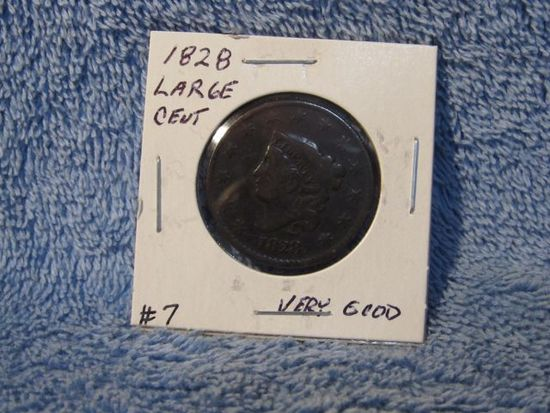 1828 LARGE CENT VG