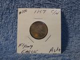 1857 FLYING EAGLE CENT AU+