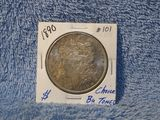 1890 MORGAN DOLLAR BU TONED