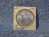 1901 MORGAN DOLLAR BORDERLINE UNC