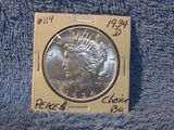 1934D PEACE DOLLAR CHOICE BU