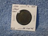 1840 LARGE LETTERS LARGE CENT XF
