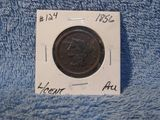 1856 LARGE CENT AU BROWN