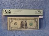 2006 FEDERAL RESERVE NOTE $1. ERROR PCGS 65 PPQ
