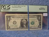 3 FORT WORTH $1. STAR NOTES 2001,03,06, PCGS 65,67,66 PPQ
