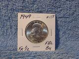 1949 FRANKLIN HALF BU FBL NICE