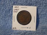 1851 LARGE CENT VF