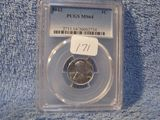 1943 LINCOLN STEEL CENT PCGS MS64