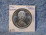1966 CANADIAN SILVER DOLLAR BU PL