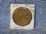 1873S $20. LIBERTY HEAD GOLD PIECE AU
