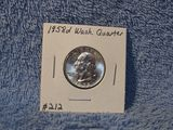 1958D WASHINGTON QUARTER BU