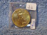 1927 $20. ST. GAUDENS GOLD PIECE BU