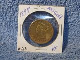 1897 $10. LIBERTY HEAD GOLD PIECE VF+