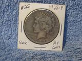 1928 PEACE DOLLAR (OBV. PIN MARKS) VF