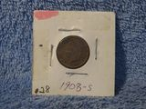 1908S INDIAN HEAD CENT F