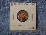 1998 OFF-CENTERED LINCOLN CENT BU