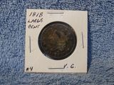 1818 LARGE CENT (CORRODED) F