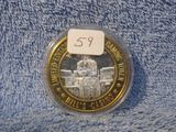 BILL'S CASINO/WILD BILL HICKOK .999 SILVER GAMING TOKEN