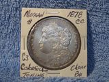 1878CC MORGAN DOLLAR COLORFULL TONING CHOICE BU