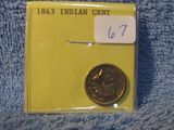 1863 C/N INDIAN HEAD CENT BU