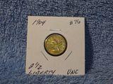 1904 $2.50 LIBERTY GOLD UNC