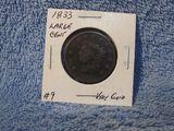 1833 LARGE CENT (POROUS) VG