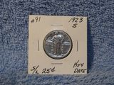 1923S STANDING LIBERTY QUARTER VF