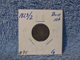 1823/2 BUST DIME G
