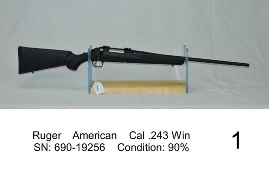 Ruger    American    Cal .243 Win    SN: 690-19256    Condition: 90%