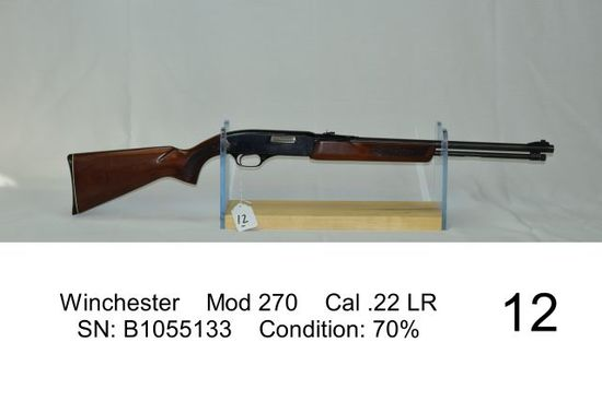 Winchester    Mod 270    Cal .22 LR    SN: B1055133    Condition: 70%