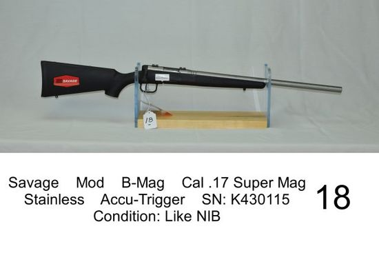 Savage    Mod    B-Mag    Cal .17 Super Mag    Stainless    Accu-Trigger