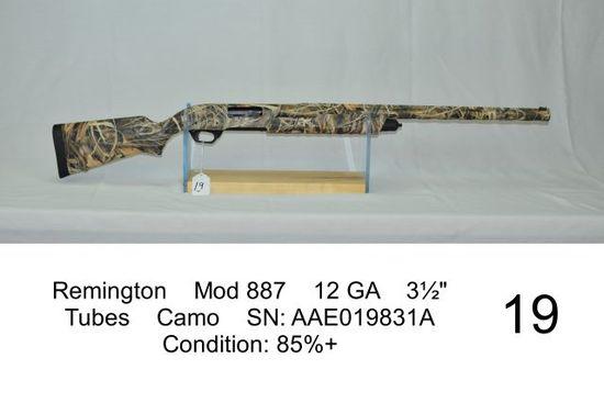 """Remington    Mod 887    12 GA    3½""""    Tubes    Camo    SN: AAE019831A"""