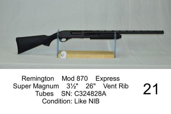 """Remington    Mod 870    Express    Super Magnum    3½""""    26""""    Vent Rib"""