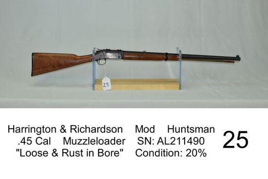 Harrington & Richardson    Mod    Huntsman    .45 Cal    Muzzleloader    SN
