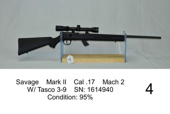 Savage    Mark II    Cal .17    Mach 2    W/ Tasco 3-9    SN: 1614940    Co