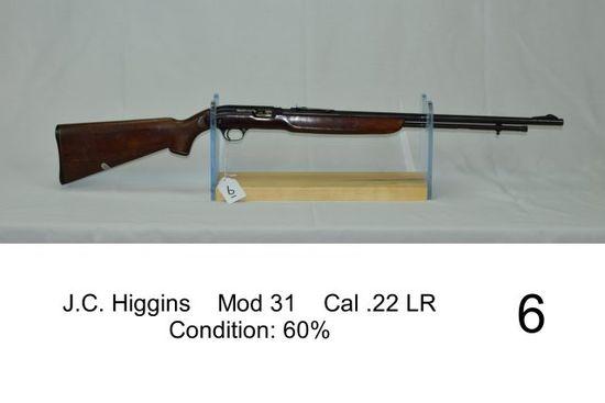 J.C. Higgins    Mod 31    Cal .22 LR    Condition: 60%