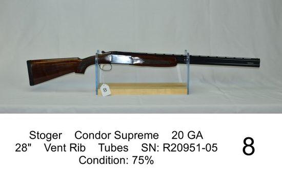 "Stoger    Condor Supreme    20 GA    28""    Vent Rib    Tubes    SN: R20951"