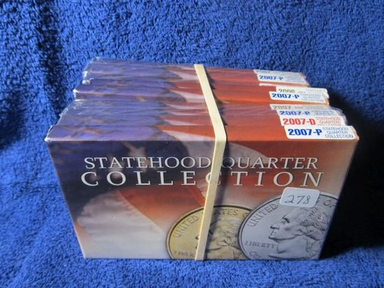 9-2007 STATE QUARTER SETS IN HOLDERS