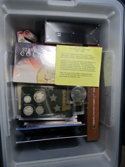 BOX OF MISC. SETS & PARTIAL SETS OF U.S. COINS