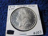 1878 8-T.F. MORGAN DOLLAR BU