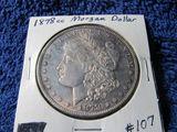 1878CC MORGAN DOLLAR (TONING) BU