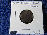 1884 INDIAN HEAD CENT UNC