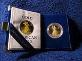 1986 1-OZ. GOLD EAGLE IN BOX PF
