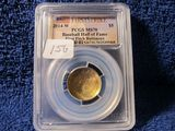 2014W BASEBALL HALL OF FAME $5. GOLD PIECE PCGS MS70