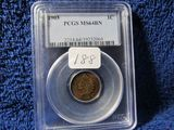 1903 INDIAN HEAD CENT PCGS MS64 BN