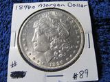 1896O MORGAN DOLLAR (TOUGH HIGHER GRADE COIN) BU