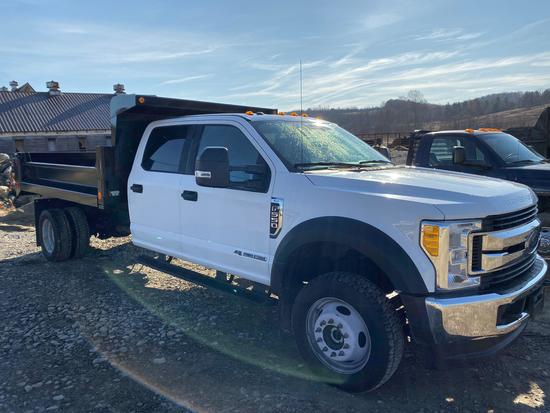 2017 Ford F550 4x4, 6.7 L Powerstroke Superduty work truck w/dump bed, 13,580 miles, dump bed in