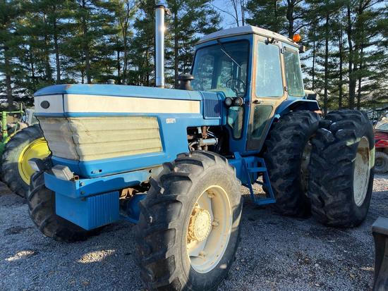 Ford TW30 dual power tractor 175 hp weights front and rear, shows 4900 hrs